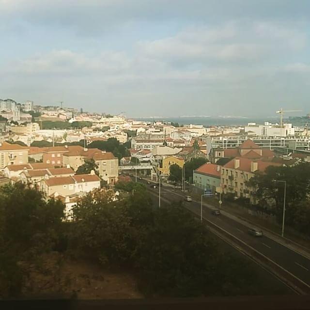 Crossing the Bridge of April 25th via train #Portugal #Lisbon